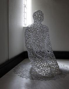 Kensington, London | Luxury interior design | Sculpture of a man