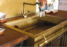 Kitchen Trends 2013-Part 5  This next trend in kitchens is one that many of us have seen before, and perhaps are not too ready to see it come back?  But it's true, Brass is Back!