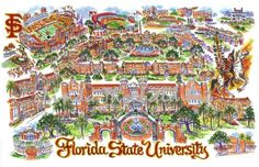 Tallahassee, Florida is the home of Florida State University.