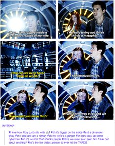 Rory: the chillest person to ever hit the TARDIS