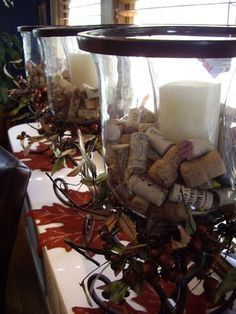 wine corks as filler