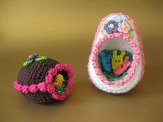 Panorama Eggs - free pattern twinki chan, knit crochet, egg free, easter crafts, panorama egg, candies, craft patterns, easter eggs, crochet patterns