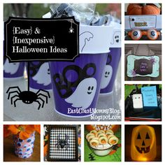 Love this site - easy projects that you CAN do :) East Coast Mommy: 10 Easy and Inexpensive {Halloween} Ideas