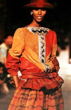 Iman, Valentino, 1982