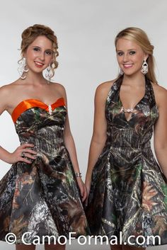 Camo prom dresses so cute!! Me n Katie would absolutely LOVE these dresses!!