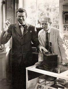 James Stewart & H.B. Warner in It's a Wonderful Life