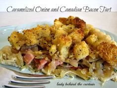 Caramelized Onion and Canadian Bacon Tart