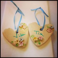 wedding favours  delicate floral ceramic hearts part of my new collection