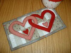 Valentine Hearts Mug Rug