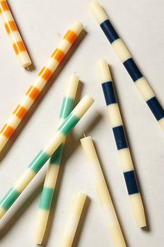 #striped taper candles