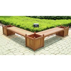 Dbl Bench & Flower Box Combo - 920777, Outdoor Furniture at Sportsman's Guide