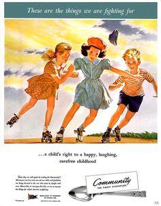 Always worth fighting for. #WW2 #vintage #propaganda #ad #children #1940s