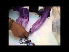 How to tie and wear a Thai silk scarf with our jewelry. scarf14