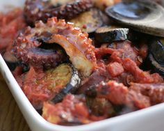 Octopus with Eggplant Recipe