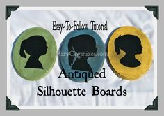 Homemade Silhouette boards. Easy to follow tutorial, absolutely no fancy equipment involved.