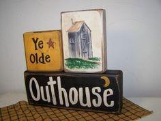 Ye Olde Outhouse sign bathroom decor