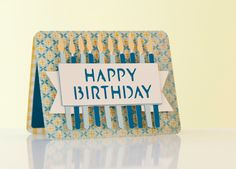 Creative Everyday Cards Cricut Image Set -- DIY Happy Birthday Candle Card. Make It Now in Cricut Design Space