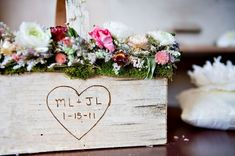 dates, letter, weddings, wooden boxes, baskets