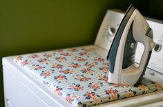 <3 DIY small ironing board.