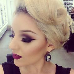 Such beautiful makeup, and the hair too!
