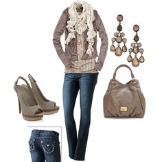 shoes! fall clothing, fashion, color, heel, fall outfits, casual looks, shoe, earring, stella dot