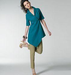 Vogue 8791 - Tunic - love the asymmetrical hemline