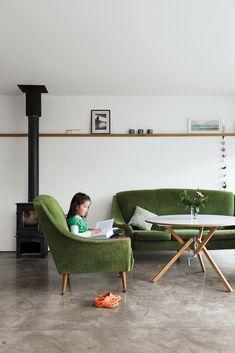 1950's green sofa