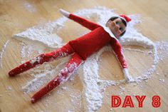 Elf on the Shelf...a post dedicated to all of the funny things their elf did each day...too cute