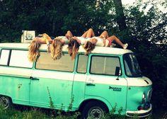 dream, friend photos, girlfriend, road trips, travel, beach, volkswagen bus, vw vans, summer days
