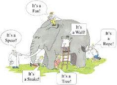 blind men and elephant   (@Jane Bozarth Learning/Teaching Metaphors)