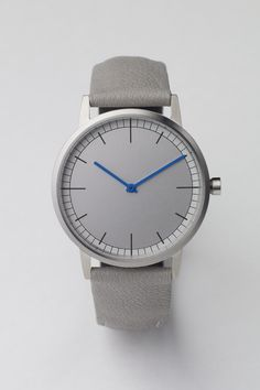 152 Series (Brushed Steel / Grey Goat Leather) by Uniform Wares