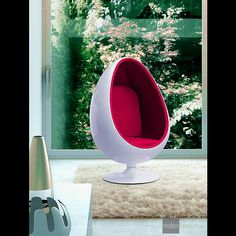The LOL Lounge Chair is a good egg and will make any living room reminiscent of The Jetsons.