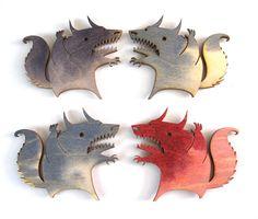 wood laser cut beast magnets