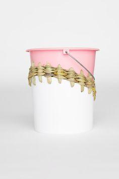 upcycled woven bucket bin #designeveryday