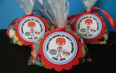 12 Spiderman Superhero Birthday Party Favor Tags. $10.00, via Etsy.