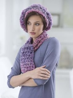 One Skein Beret And Scarf Set