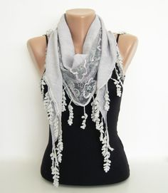 scarf, tulle scarf
