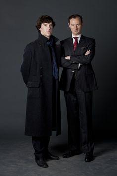 Sherlock and Mycroft. The happy family.
