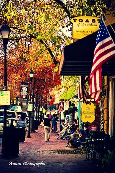 "Beautiful shot of Davidson in the fall.  ""Davidson, North Carolina"""