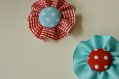 covered button flowers