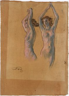 Nude Studies  Arthur B. Davies (American, Utica, New York 1862–1928 Florence) art inspir, nude studi, grand projet, prochain grand, silent beauti, mon prochain, ashcan school, general art