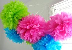 paper ball, flower ball, tissu paper, birthday parties, decorating ideas, tissue paper flowers, paper pom poms, nurseri, birthday ideas