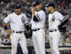 NY Yankees - Alex Rodriguez, Andy Pettitte, and Derek Jeter.