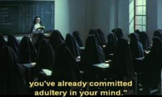 #nunsploitation #movie #film #cult #classic #subtitles #subtitled #adultery #nuns #sin #quote #quotation #still #image † #School #of #The #Holy #Beast