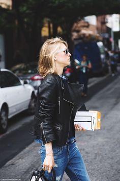 leather jacket | photo collage vintage