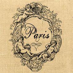 franc print, burlap pillowsbag, gifts, french countri, france, burlap label, gift tags, vintag imag, imag pari