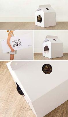Pop-Up Milk Carton Cat House Design Would Be Cool Carrier | Designs & Ideas on Dornob