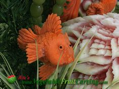 Nita's Carrot Goldfish was part of an Under Sea Garden competition display