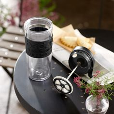 Acrylic Travel Coffee Press by Bodum, 3.5-cup, $14.49 at store.starbucks.com