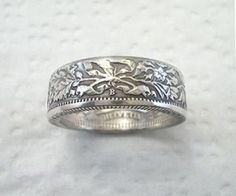 Coin Ring Swiss Helvetia Silver 2 Franc Place by SpiritualFlyer, $44.50